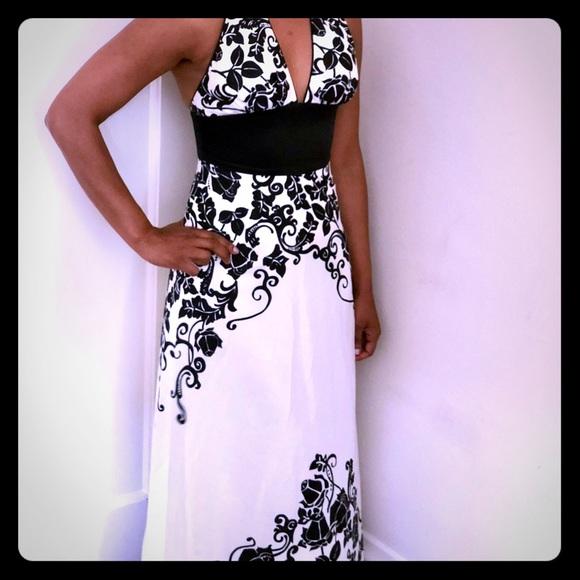 White House Black Market Dresses & Skirts - Elegant Black and White Long Dress